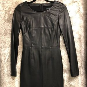 Guess by Marciano black leather mini dress